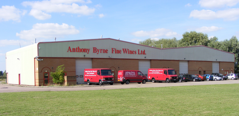Our wine warehouse and vans